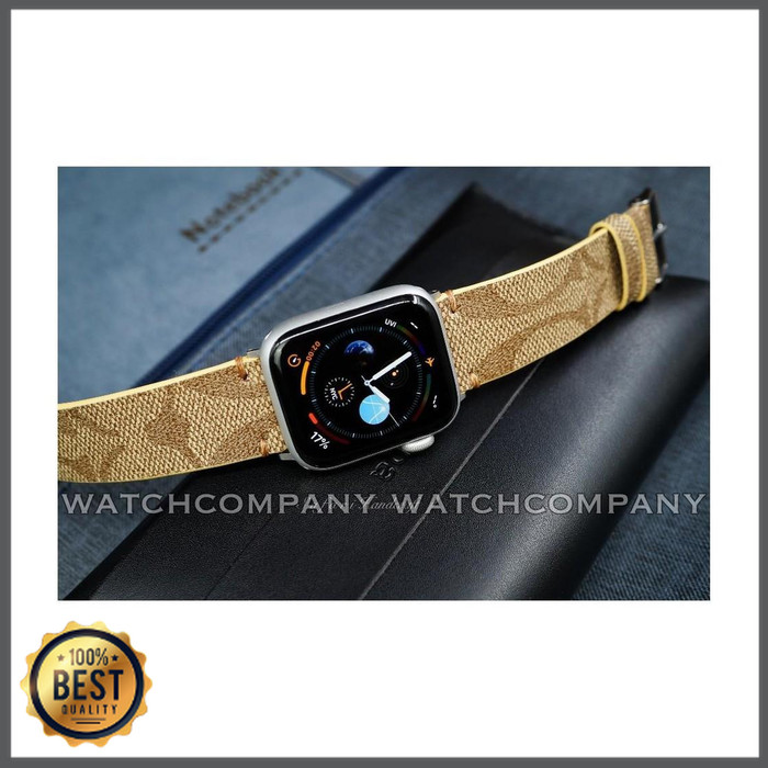 Jual Strap Apple Watch Band Monogram Coach Iwatch 2 3 4 5 6 Leather Kulit Jakarta Barat Holicx Tokopedia
