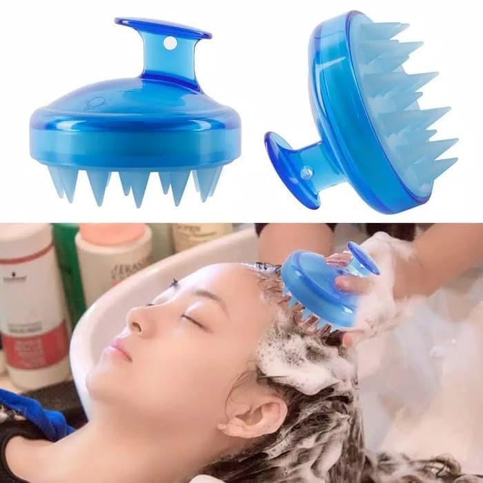 Foto Produk Shampoo Washing Comb Silicone Sisir Keramas silikon SW922 - Merah dari laris_88 computer
