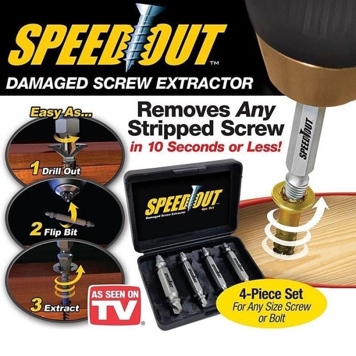 Foto Produk Speedout Pembuka Baut Rusak / Damage Screw Extractor Remover Stripped dari KortingStore