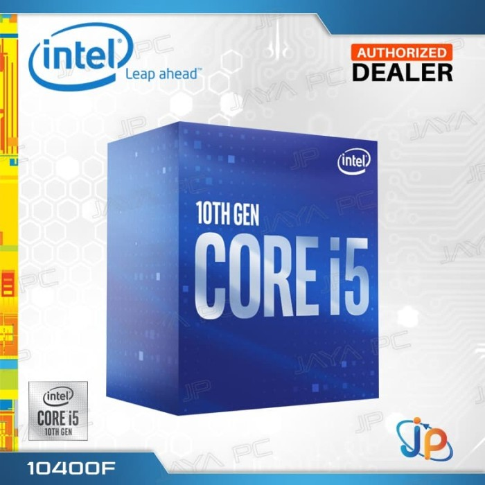 Foto Produk Processor Intel Core I5 10400F Box Comet Lake Socket LGA 1200 dari Jaya PC