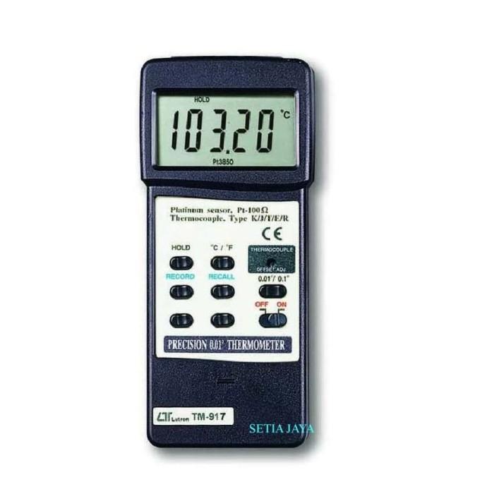 Foto Produk LUTRON TM-917 Precision Thermometer ( Belum termasuk Temp Probe ) dari Setia Jaya GM