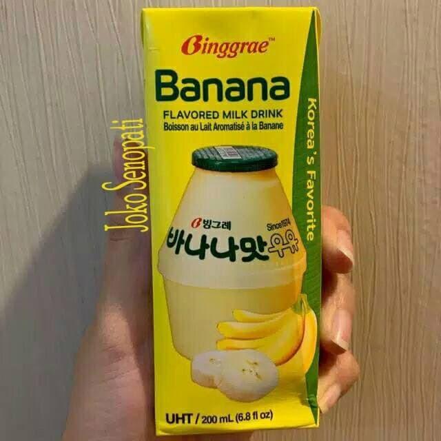 Jual Binggrae Banana Milk Korea Susu Pisang Korea 200ml Jakarta Barat Jokosenopati Tokopedia
