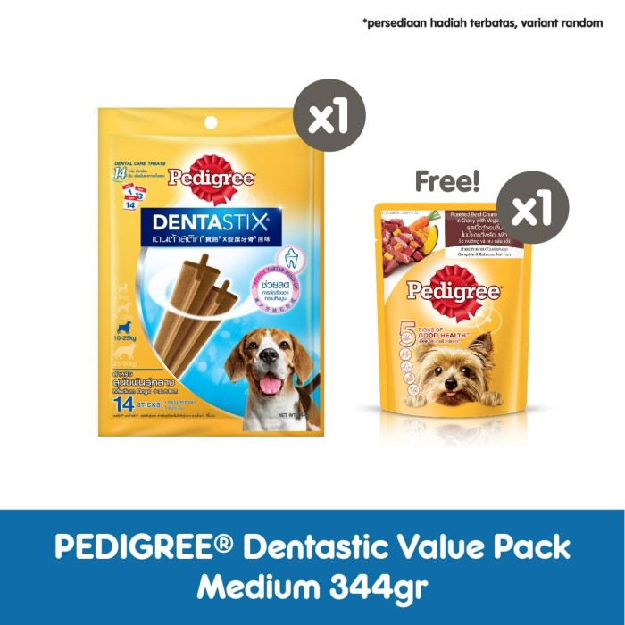 Foto Produk Pedigree Dentastix Value Pack Makanan Anjing Sedang 344gr dari Pedigree Official Store