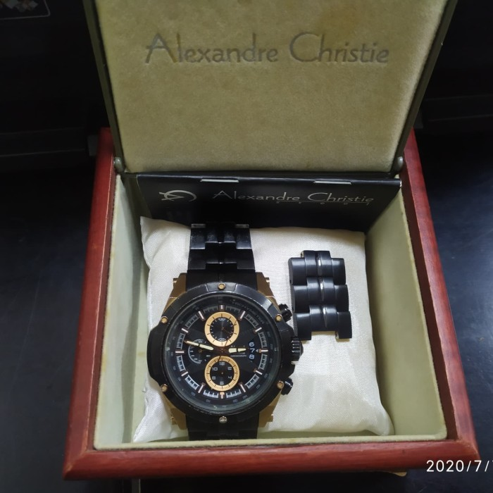 Foto Produk Jam Tangan Alexandre Christie AC 6341MC Rose Gold Second Komplit Box dari aligarth_dumai