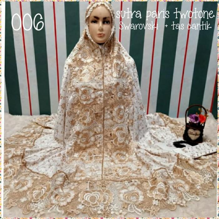 Foto Produk Mukenah sutra paris renda mawar Swarovski(mewah.elegant)+tas dari Winnie Collection