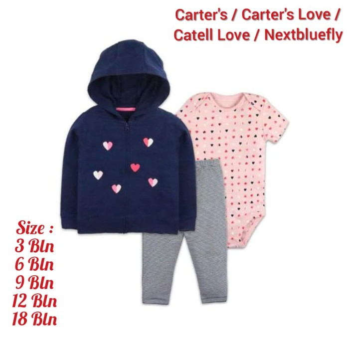 Jual Set 3in1 Jaket Carter's Nextbluefly Anak Bayi ...