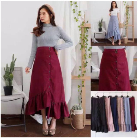 Jual Long Ruffle Plaid Skirt Ara Asymmetric Rok Zara Panjang Polos Jakarta Barat Mimo Grup Tokopedia