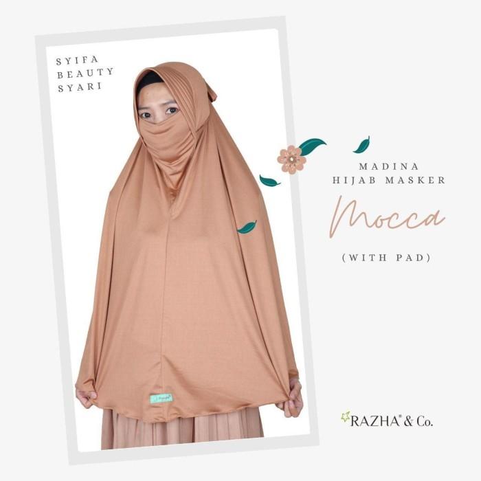 Jual Madina Hijab Masker Bergo Masker By Asyifa Dengan Pad Kab Bandung Barat Hijab Fahima Tokopedia