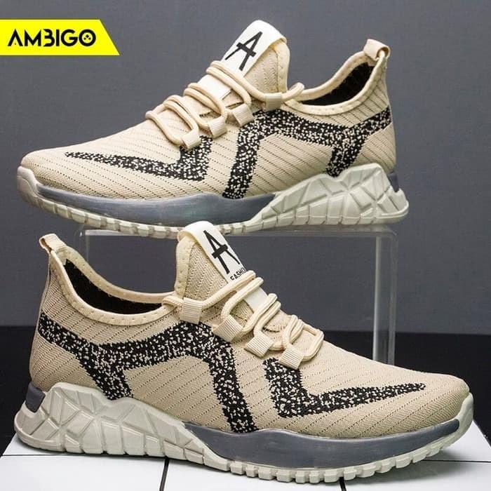 Foto Produk Sepatu Sneakers Olahraga Pria Ambigo ARTOS JKT26 Running Shoes - Cokelat, 40 dari Jagonya Case
