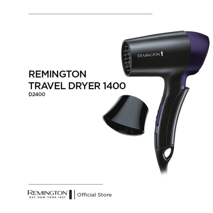 Foto Produk Remington Pengering Rambut Travel Dryer 1400 - D2400 dari REMINGTON INDONESIA