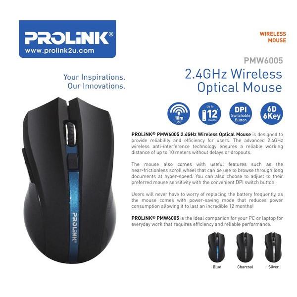 Foto Produk Mouse Wireless Prolink PMW6005 PMW-6005 dari PojokITcom Pusat IT Comp