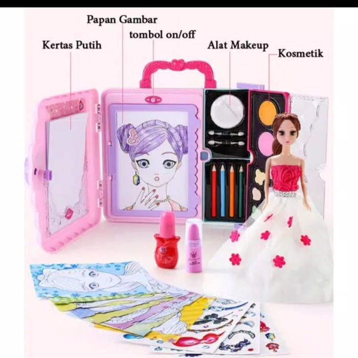 Foto Produk Mainan anak menggambar n menghias DIY lengkap dgn makeup barbie dari AUTO KID II