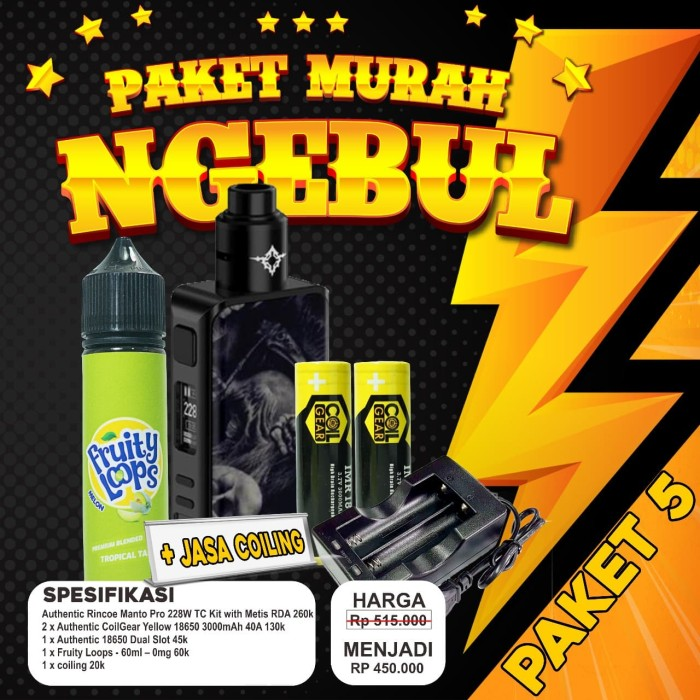 Foto Produk PAKET NGEBUL MURAH Authentic Rincoe Manto Pro 228W TC Kit with Metis dari VapeOi