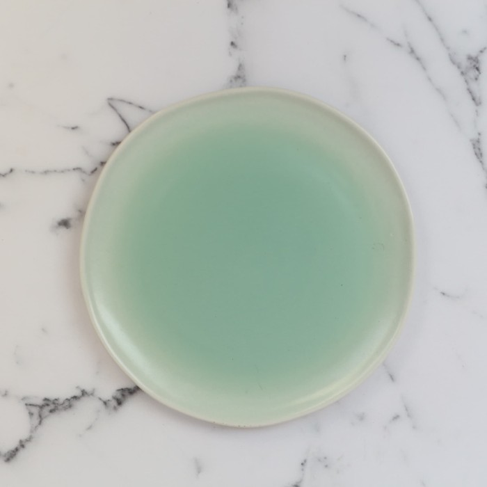 Foto Produk Artisan Ceramic | Dipping Green Lagoon BB Plate | Piring Keramik dari Artisan Ceramic