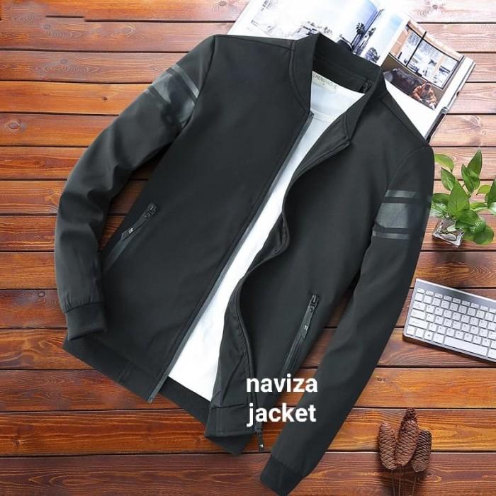 Foto Produk jaket pria/jaket bomber/jaket pria taslan terbaru - Hitam, S dari naviza jacket
