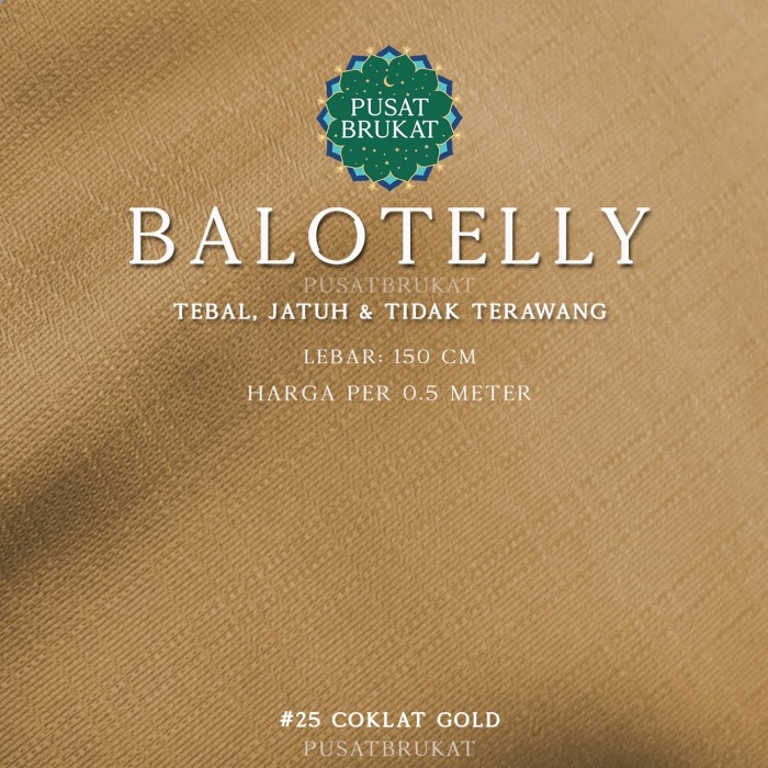 Foto Produk BALOTELLY 1/2 - KAIN BALOTELLI / BALOTELI POLOS [harga per 0.5m] dari Pusat Brukat
