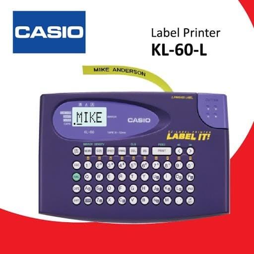 Foto Produk Label Printer Portable Casio KL-60L - Mesin Label Printer Casio KL 60L dari EtalaseBelanja