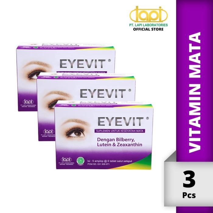 Foto Produk Paket 3pcs EYEVIT Tablet - Box isi 5 Strip @ 6 Tablet - Vitamin Mata dari Lapi Official Shop