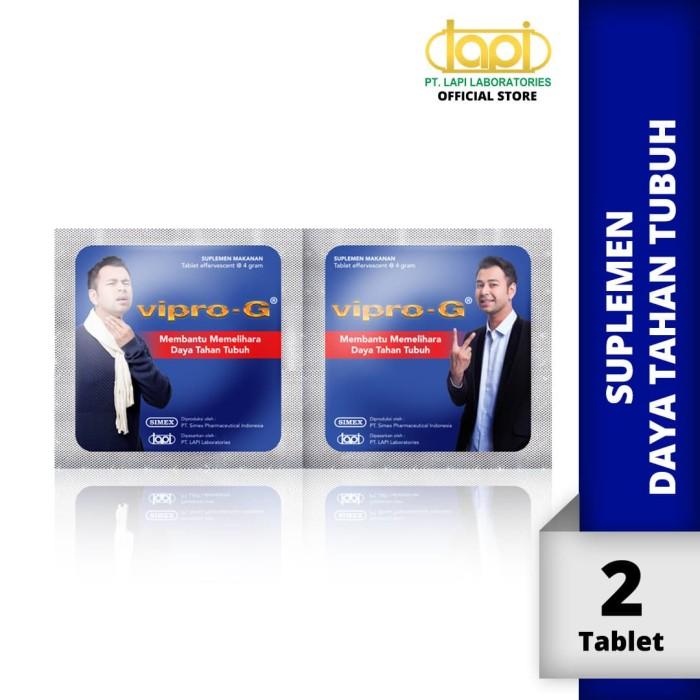 Foto Produk VIPRO-G - 1 Strip @ 2 Tablet - Suplemen Untuk Menjaga Daya Tahan Tubuh dari Lapi Official Shop