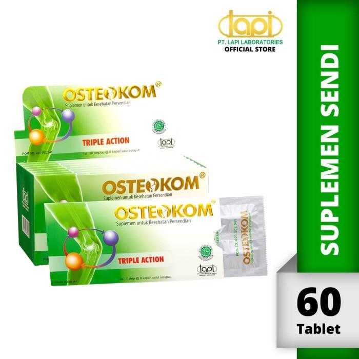Foto Produk Osteokom isi 10amplop @6kaplet - Suplemen kesehatan sendi dari Lapi Official Shop