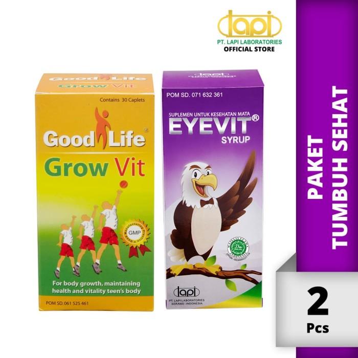 Foto Produk Paket Tumbuh Sehat - EYEVIT Syrup 60ml & Good Life Growvit 30 Tablet dari Lapi Official Shop