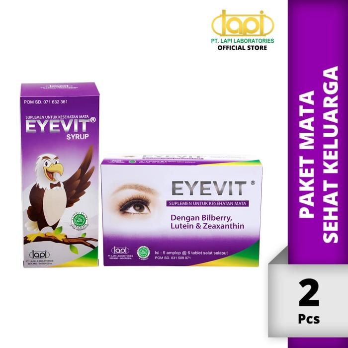 Foto Produk Paket Mata Sehat Keluarga - EYEVIT Tablet 5 strip @ 6 Tablet & EYEVIT dari Lapi Official Shop