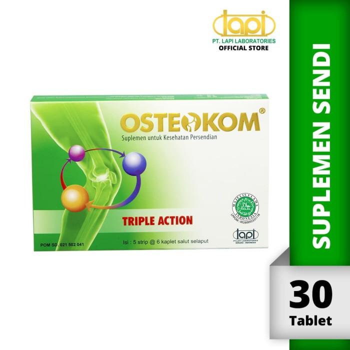 Foto Produk Osteokom isi 5strip @6kaplet - Suplemen kesehatan sendi dari Lapi Official Shop