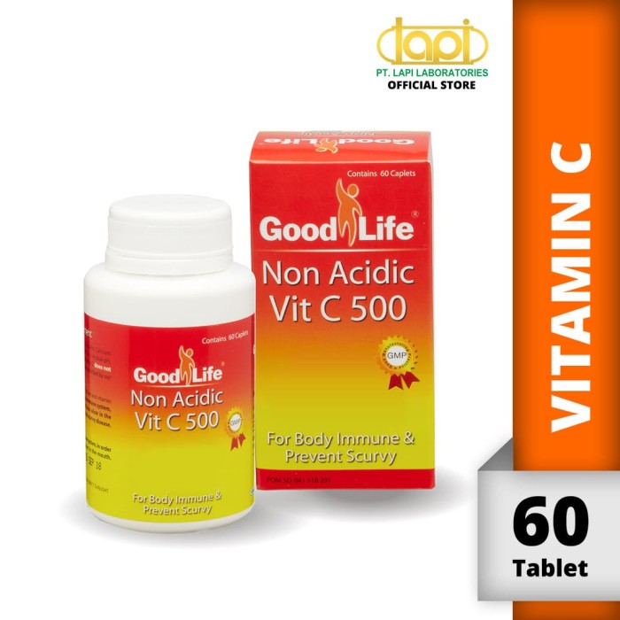 Foto Produk Good Life Vit C 500 Non Acidic - Botol isi 60 Tablet dari Lapi Official Shop