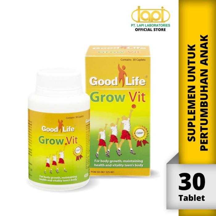 Foto Produk Good Life Growvit - Botol isi 30 Tablet - Membantu Pertumbuhan dari Lapi Official Shop