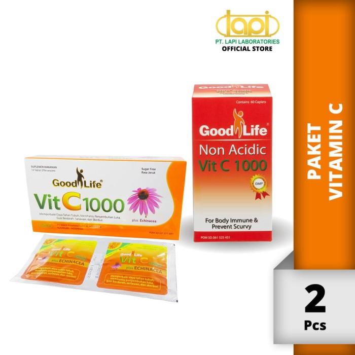 Foto Produk Paket Vit C - Vit C + Echinacea 10 tab & Vit C 1000 Non Acidic 60 tab dari Lapi Official Shop