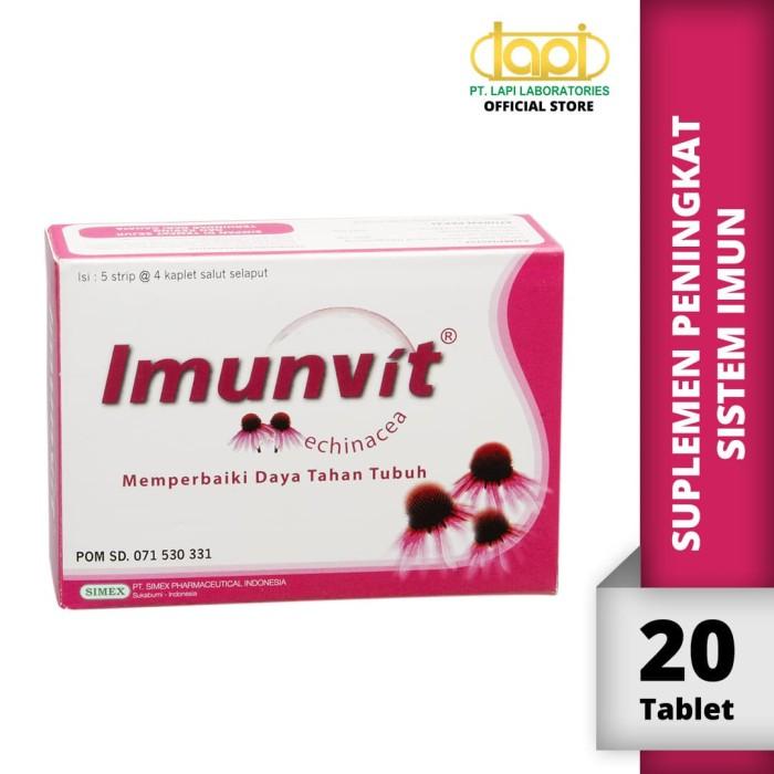 Foto Produk Imunvit - Box isi 5 strip @ 4 Tablet - Suplemen Untuk Daya Tahan Tubuh dari Lapi Official Shop