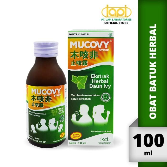 Foto Produk Mucovy isi 100ml - Obat Batuk Berdahak Halal dari Lapi Official Shop