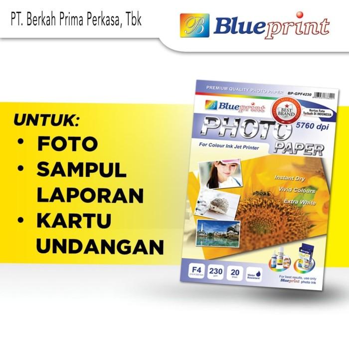 Foto Produk Kertas Foto / Kertas Glossy / Glossy Paper BLUEPRINT F4 230 gsm dari Blueprint Indonesia