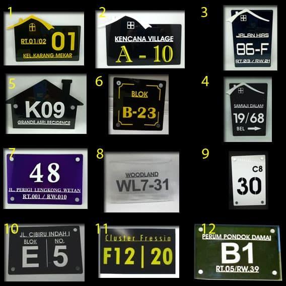 Foto Produk Nomor Rumah Akrilik dari Multi Axis Creasindo