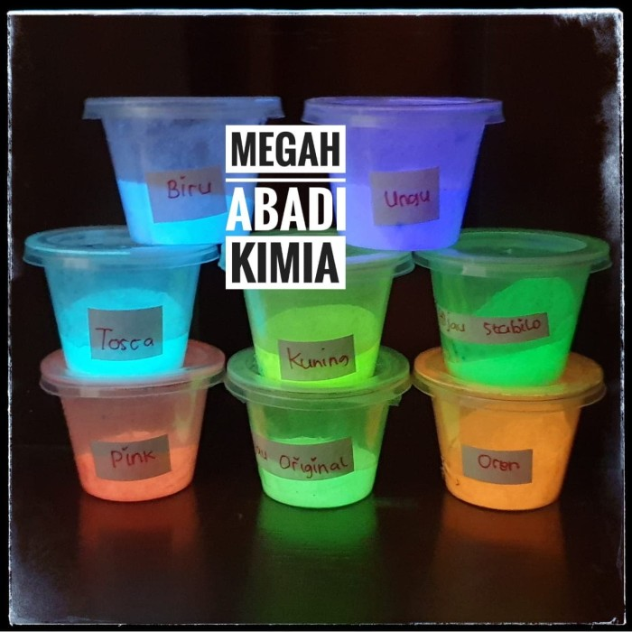 Foto Produk glow in the dark powder / bubuk fosfor / 10 Gram dari Megah Abadi Chem