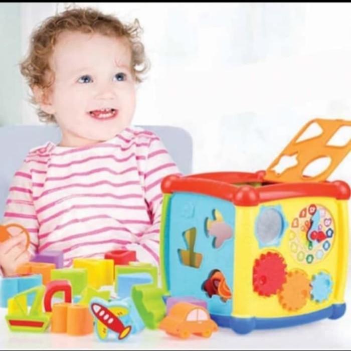 Foto Produk Mainan edukasi Anak box puzzle kubus multifungsi lengkap dgn music dari AUTO KID II