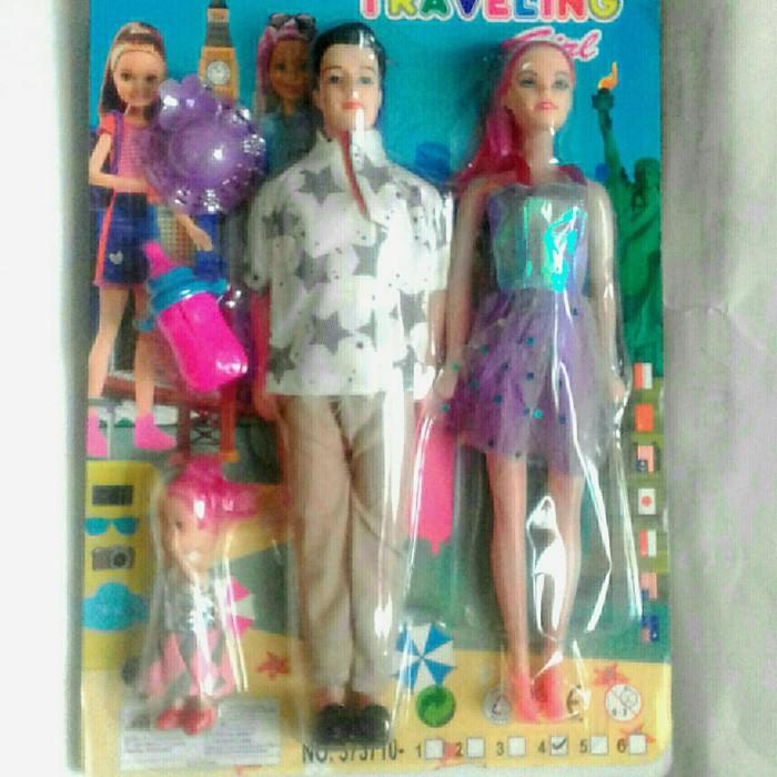 Foto Produk mainan barbie satu set ibu ayah dan anak dari rumasa