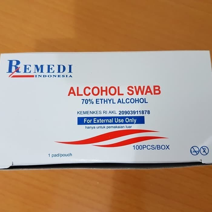 Foto Produk Tisu Alkohol Remedi / Alcohol Swab dari Vintaco