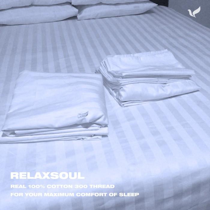 Foto Produk Sprei Hotel Fitted Relaxsoul Lengkap 100-160-180-200x200 dari spreibantalhotel