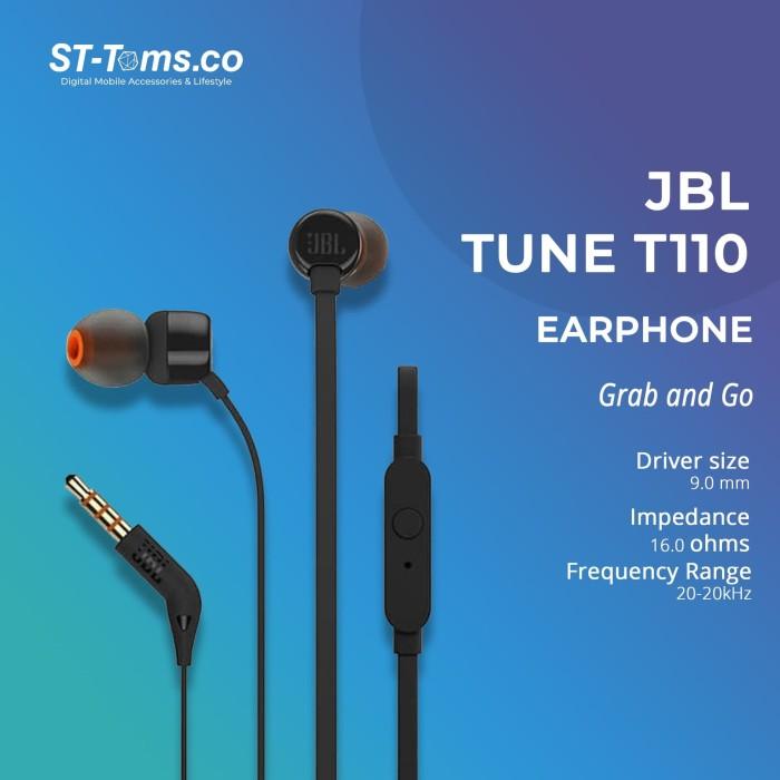 Foto Produk JBL In-Ear Headphone T110 - Hitam - Putih dari ST-Toms.co