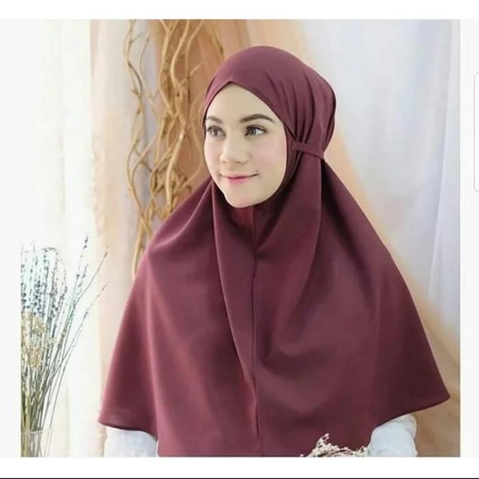 Jual Kerudung Syari Premium Khimar Tali Jilbab Hijab Wolfis Instan No Pet Navy Kota Semarang From East With Love Tokopedia