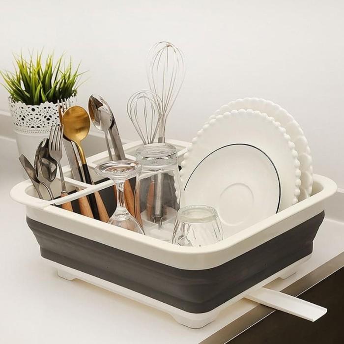 Foto Produk Rak Pengering Piring / Rak Piring Lipat / Dish Drainer / Dryer dari AnerStore