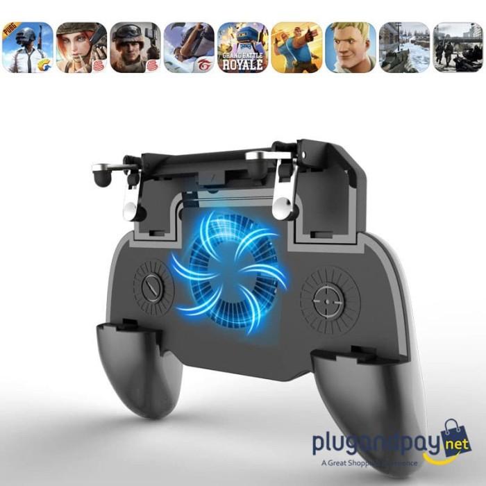 Foto Produk Gamepad Joystick Grip Trigger Aim L1 R1 PUBG Fortnite + Cooling Fan + dari plugandpay