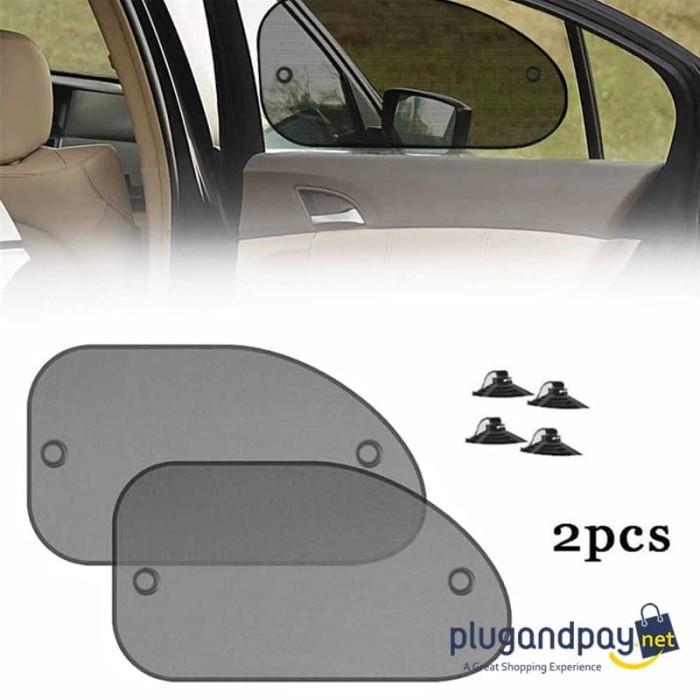 Foto Produk Pelindung UV Jendela Mobil Car Sun Shade Mesh Cover Visor 2PCS Korden dari plugandpay