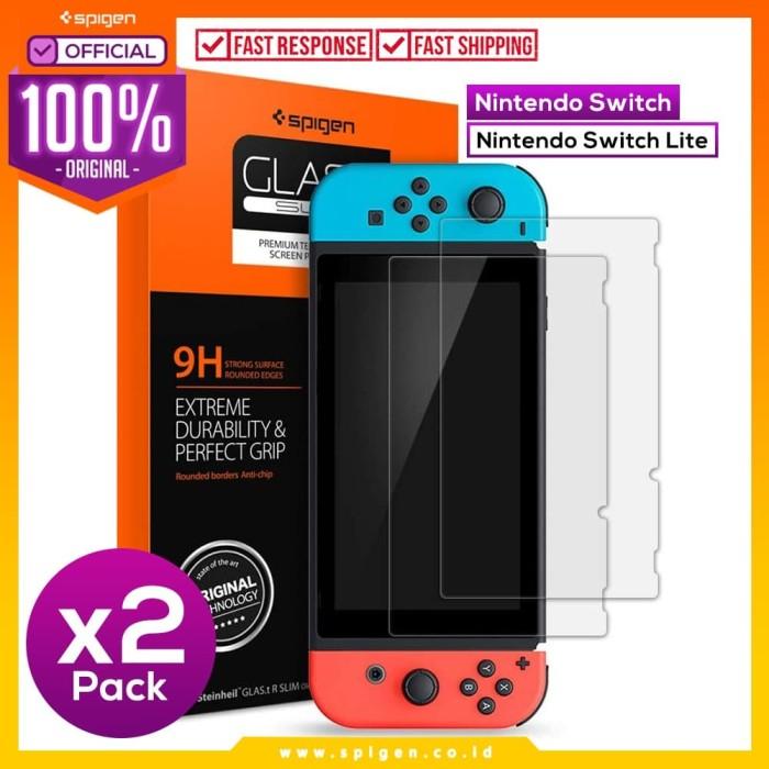 Foto Produk Tempered Glass Nintendo Switch / Lite Spigen tR SLIM Screen Protector - Lite dari Spigen Official