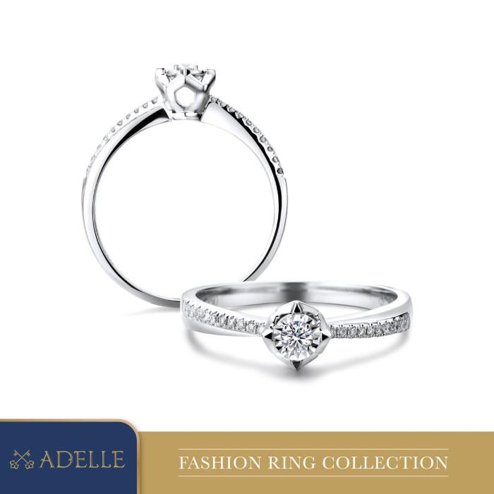 Foto Produk Cincin Berlian Adelle Jewellery - Diamond Ring - PB0663-20N - White Gold, 5-15 dari Adelle Jewellery