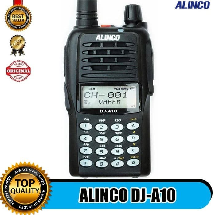 Foto Produk HT ALINCO DJ-A10 SINGLE BAND VHF - HANDY TALKY ALINCO DJ A10 dari EtalaseBelanja