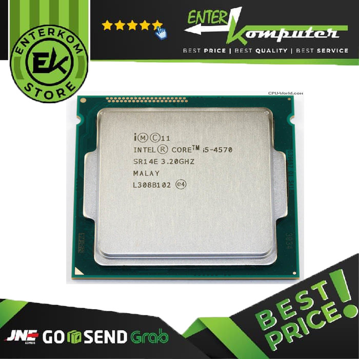 Foto Produk Intel Core I5-4570 3.2ghz - Cache 6mb [tray] Socket Lga 1150 - Haswell dari Enter Komputer Official