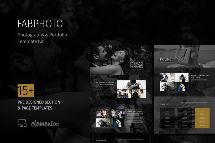 Jual Fabphoto Photography And Portfolio Template Kit Landing Page Kab Blitar Premikey Tokopedia