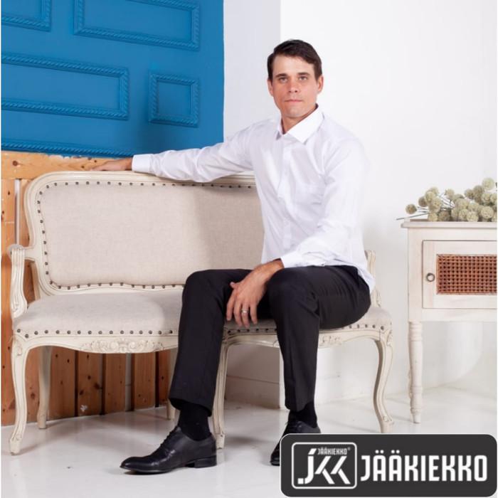 Foto Produk KEMEJA PRIA PUTIH LENGAN PANJANG | KATUN PREMIUM | SLIM FIT - Putih, XL dari SHE898